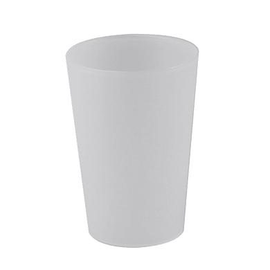 Bicchiere porta spazzolini Bimbo in plastica bianco