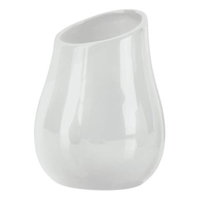 Porta spazzolini Azalea in ceramica bianco