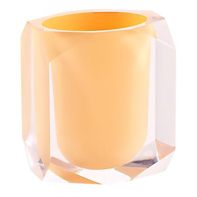 Bicchiere porta spazzolini Chanelle in resina rosa pesca