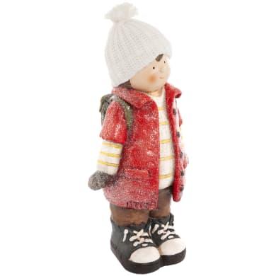 Figura natalizia rosso L 16.5 x P 22.5 x H 47 cm