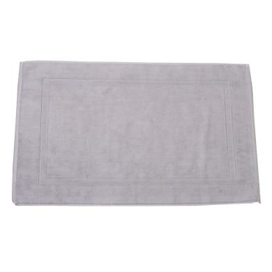 Tappeto bagno rettangolare Eponge in cotone ecrù 50 x 80 cm