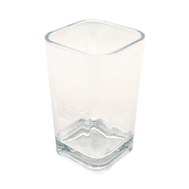 Bicchiere porta spazzolini Claire in plastica trasparente