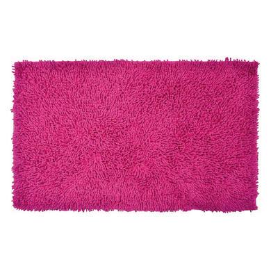 Tappeto bagno rettangolare Bouclettes in 100% cotone pink 80.0 x 50.0 cmØ 3 cm