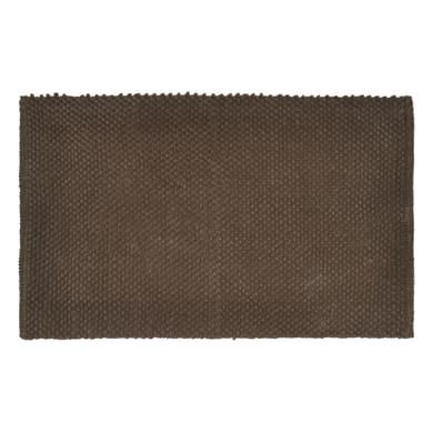 Tappeto bagno rettangolare Bubble in 100% cotone marrone 80 x 50 cm