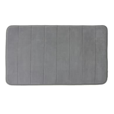 Tappeto bagno rettangolare Cocoon in poliestere grigio 80 x 50 cm