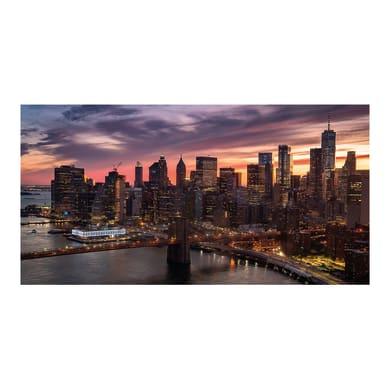 Quadro su tela New York sky 145x75 cm