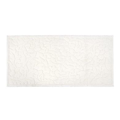Tappeto bagno rettangolare Dea in cotone bianco 110 x 55 cm