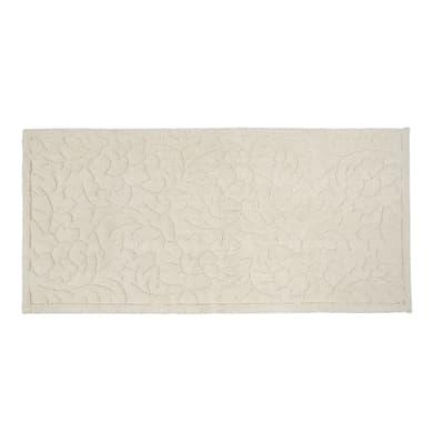 Tappeto bagno rettangolare Dea in cotone beige 53 x 110 cm