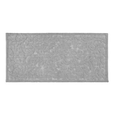Tappeto bagno rettangolare Dea in cotone grigio 110 x 53 cm