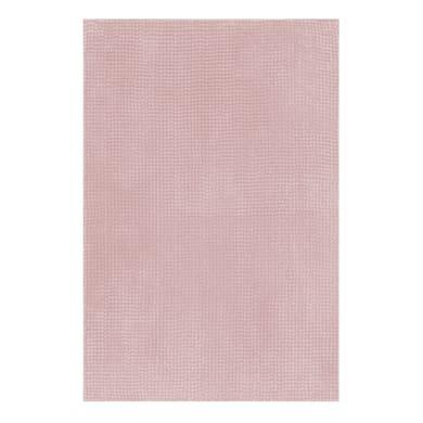 Tappeto bagno rettangolare Fluffy in poliestere rosa 80 x 50 cm