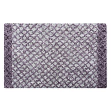 Tappeto bagno rettangolare Lucia in 100% cotone lilla 80.0 x 50.0 cm