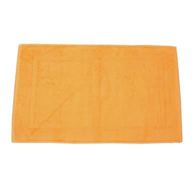 Tappeto bagno rettangolare Eponge in 100% cotone arancione 50 x 80 cm