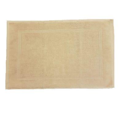 Tappeto bagno rettangolare Eponge in cotone beige 80 x 50 cm