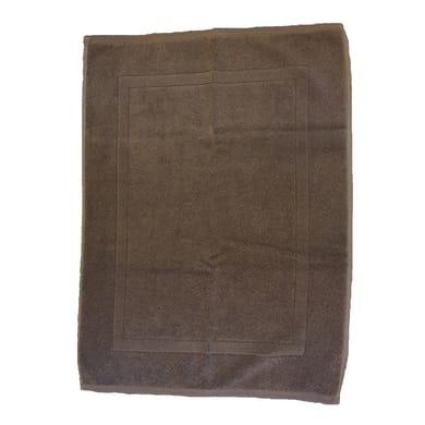 Tappeto bagno rettangolare Eponge in cotone marrone 80 x 50 cm