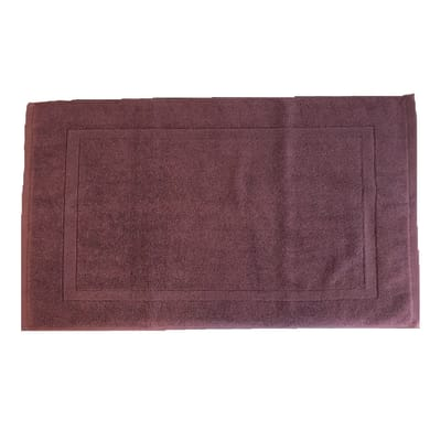 Tappeto bagno rettangolare Eponge in cotone lilla 80 x 50 cm