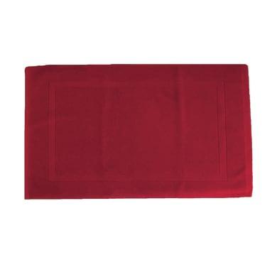 Tappeto bagno rettangolare Eponge in cotone rosso 80 x 50 cm