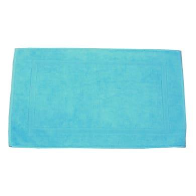 Tappeto bagno rettangolare Eponge in cotone turchese 50 x 80 cm
