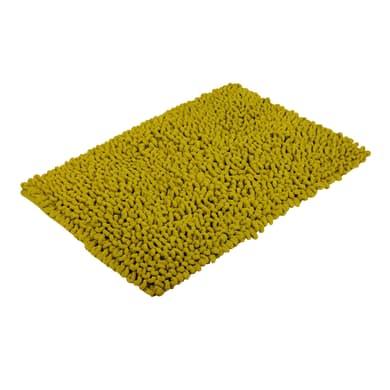 Tappeto bagno rettangolare Time in cotone verde 80 x 50 cm