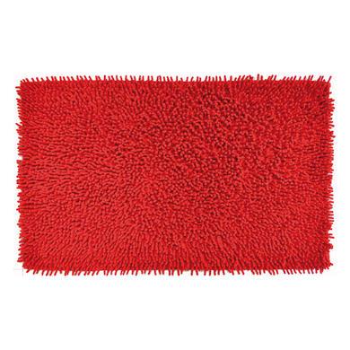 Tappeto bagno rettangolare Velvet in 100% cotone rosso 80 x 50 cm