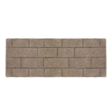 Tappeto bagno rettangolare Wall in cotone marrone 100 x 50 cm