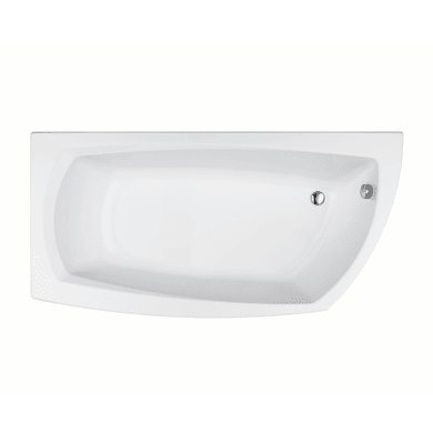 Vasca asimmetrica Cloe bianco 170 x 70 cm