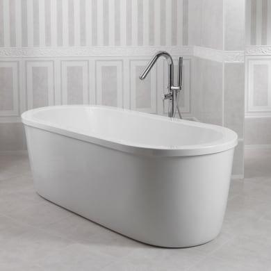 Vasca e pannello piatto Loft 180 x 80 cm bianco
