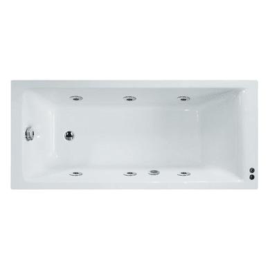 Vasca idromassaggio rettangolare Galaxy confort bianco 170 x 75 cm 6 bocchette SENSEA