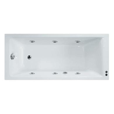 Vasca idromassaggio rettangolare Galaxy confort,bianco ,160, 70 cm, 6 bocchette, SENSEA