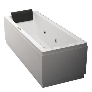 Vasca idromassaggio rettangolare Amea,bianco ,170, 70 cm, 6 bocchette,