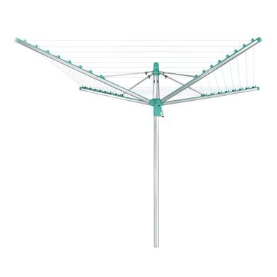 Stendibiancheria da esterno ad ombrello LEIFHEIT Linomatic 400  in alluminio L 186 cm grigio / argento