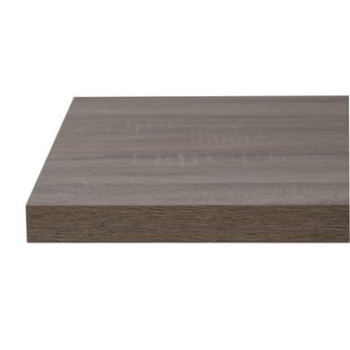 Top per lavabo SENSEA Remix L 90 x P 49 x H 3.8 cm legno ed effetto legno