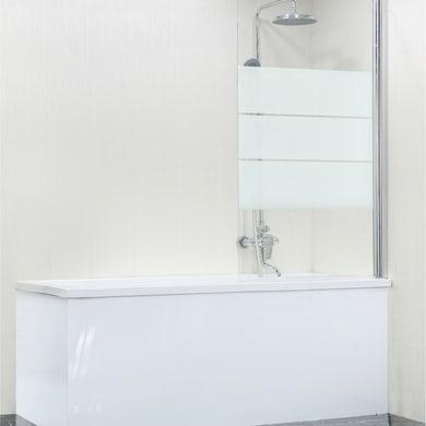 Parete vasca in vetro di sicurezza 5 mm serigrafato H 140 cm