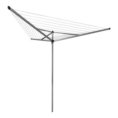 Stendibiancheria da esterno ad ombrello BRABANTIA in alluminio L 189 cm grigio / argento