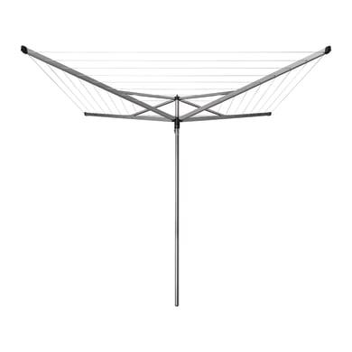 Stendibiancheria da esterno ad ombrello Essential in alluminio L 189 cm grigio / argento