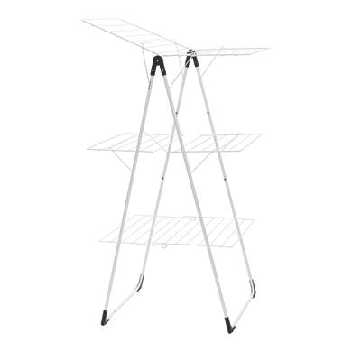 Stendibiancheria da appoggio con battenti Tower in acciaio per a pavimento L 67 cm bianco
