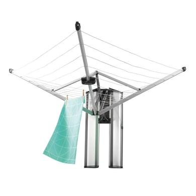 Stendibiancheria da esterno ad ombrello in alluminio L 18.5 cm grigio / argento