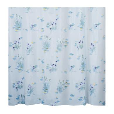 Tenda doccia Canneto in peva azzurro L 180 x H 200 cm