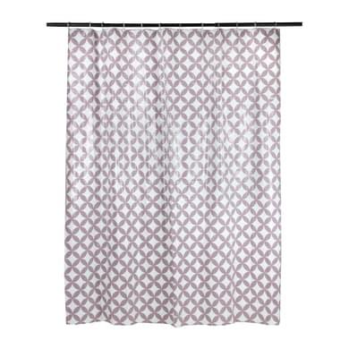 Tenda doccia Corolle in vinile lilla L 240 x H 200 cm
