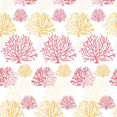 Tenda doccia Coral in vinile rosso L 240 x H 200 cm