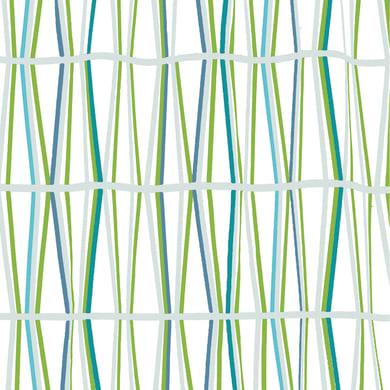 Tenda doccia Bambu' in poliestere verde L 180 x H 200 cm