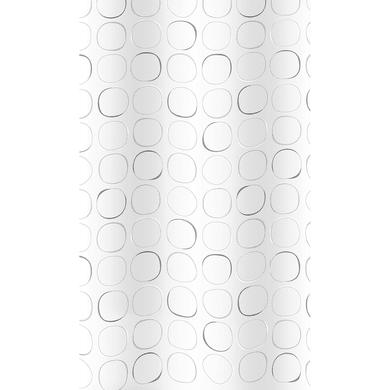 Tenda doccia Circle in poliestere grigio L 240 x H 200 cm