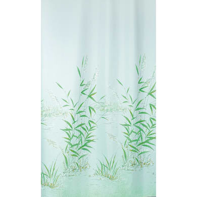 Tenda doccia Canneto in poliestere verde L 240 x H 200 cm