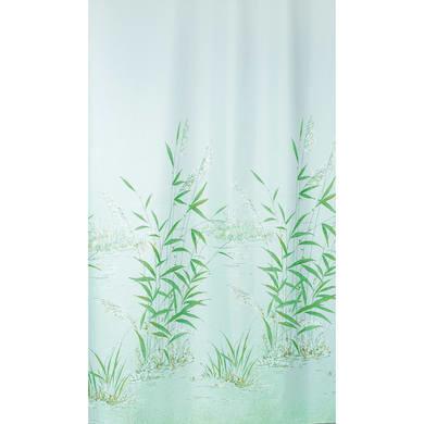 Tenda doccia Canneto in poliestere verde L 180 x H 200 cm