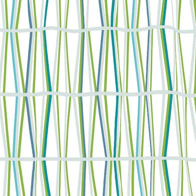 Tenda doccia Bambu' in poliestere verde L 240 x H 200 cm