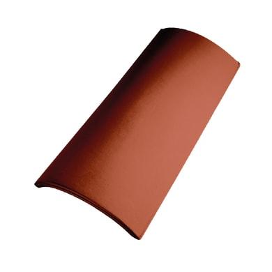 Colmo per coppo trafilato in terracotta 45 x 21.5 cm rosso