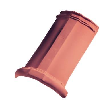 Colmo per tegola Marsigliese in terracotta 43 x 26 cm rosso