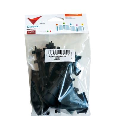 Kit accessori per battiscopa in pvc 10 pezzi