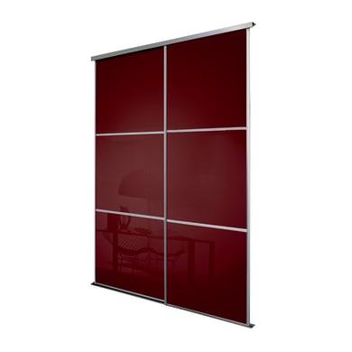 Ante scorrevoli Washington in vetro vetro L 120 x H 270 cm