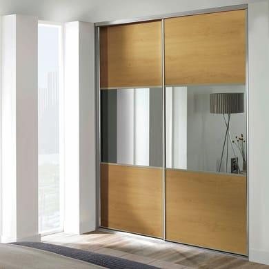 Ante scorrevoli Washington in legno specchio L 120 x H 270 cm