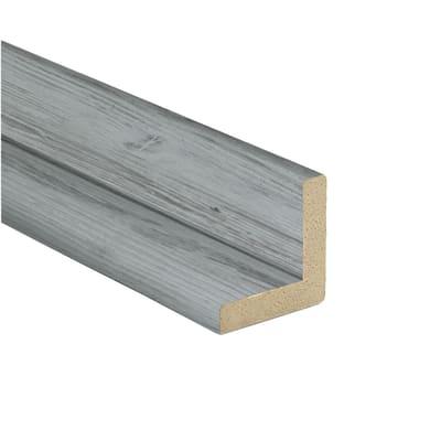 Angolare in mdf grigio chiaro 2.18 m x 24 mm, Sp 24 mm